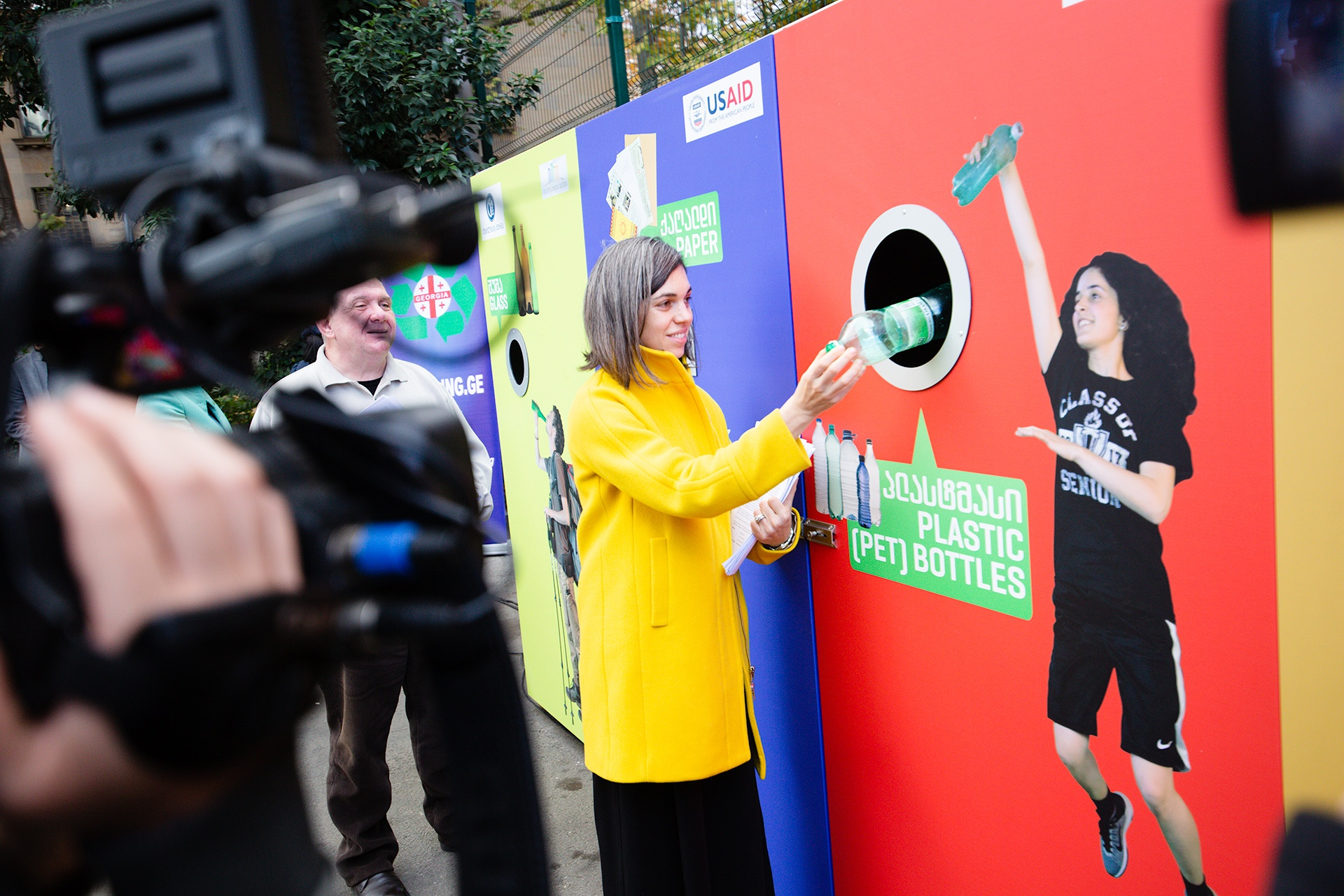 Reciclaje en las calles de Tbilisi