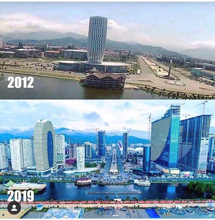 Batumi crece a ritmo vertiginoso. En menos de 10 años la ciudad se ha transformado completamente