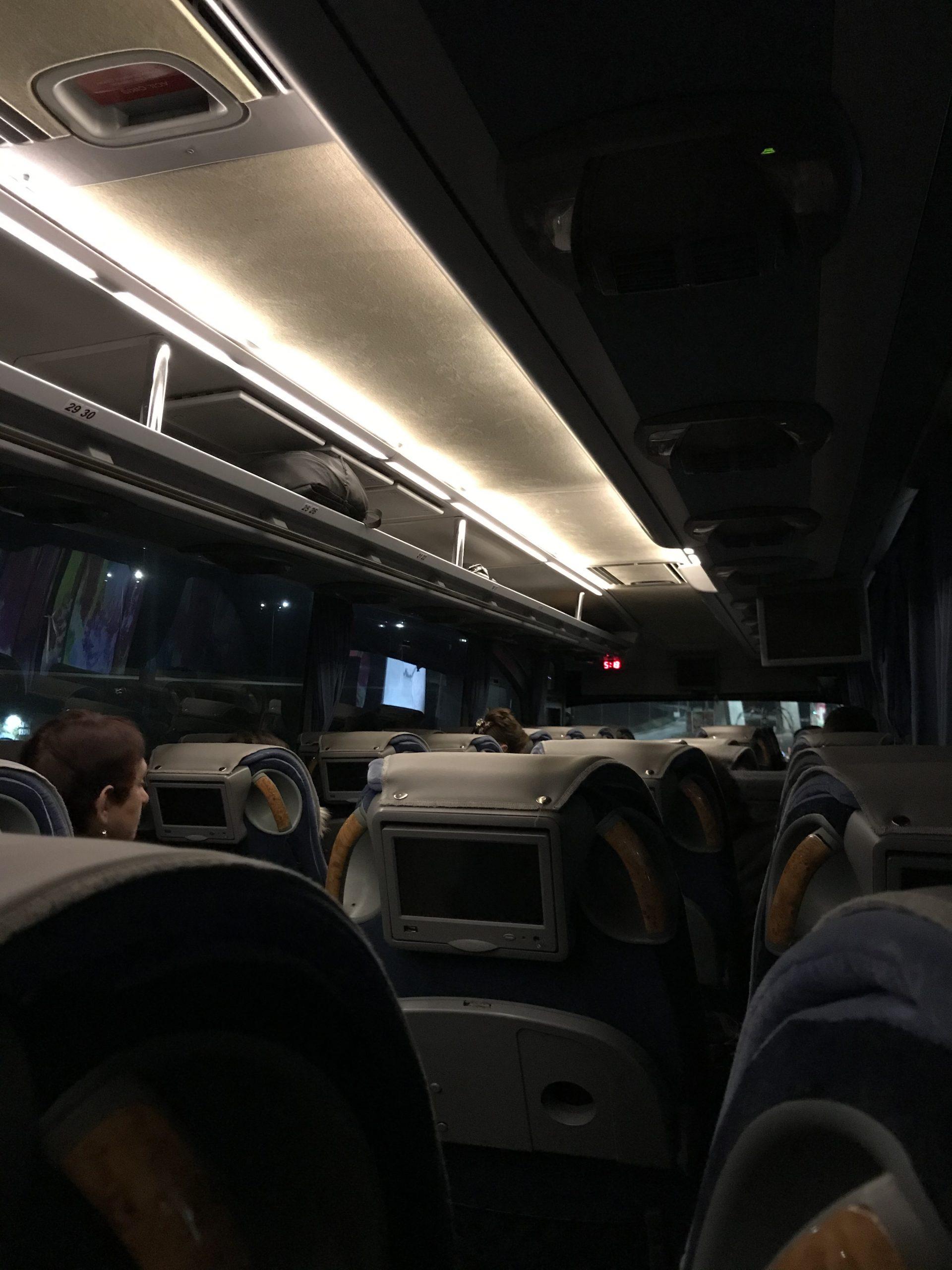De noche de camino a Tbilisi desde Kutaisi Airport