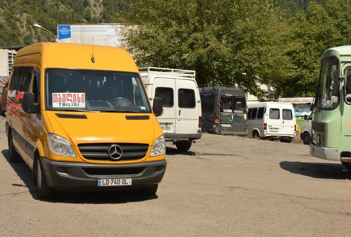 Marshrutkas que hasta el día de hoy recorrían las calles de Tbilisi