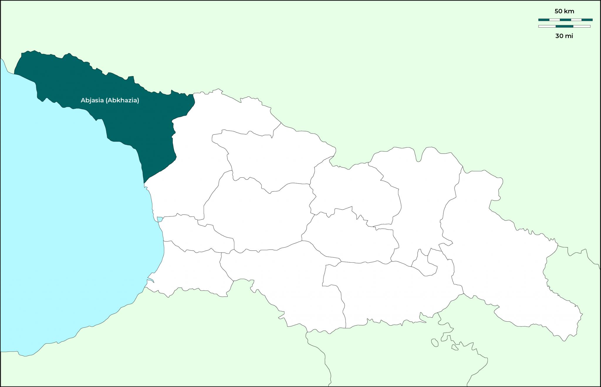 Región de Abjasia (Abkhazia): Mapa