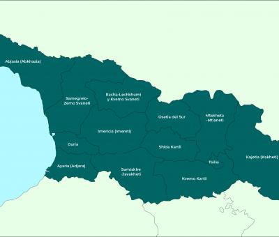 Georgia: Mapa