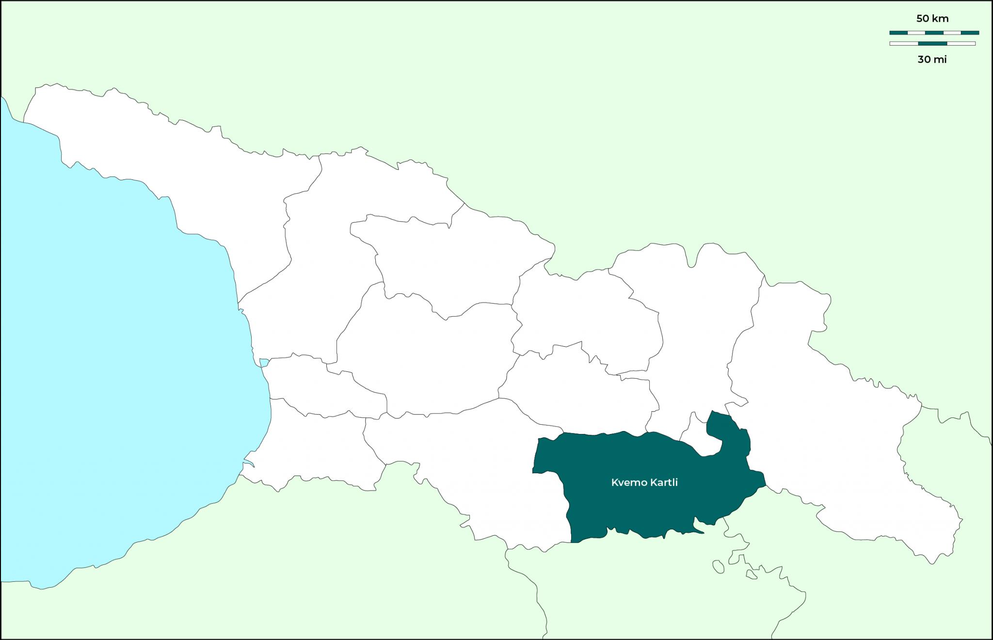 Región de Kvemo Kartli: Mapa