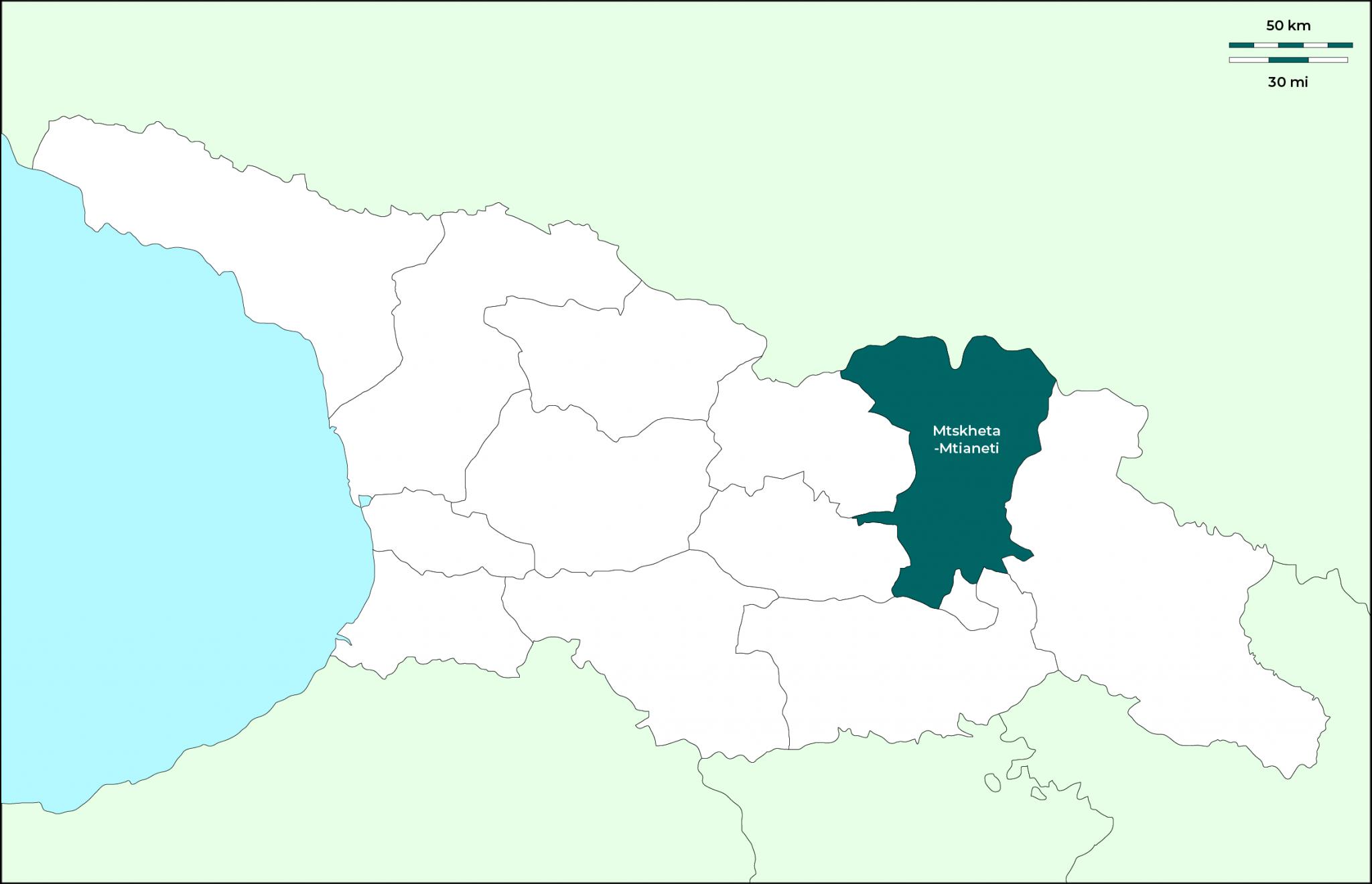 Región de Mtskheta-Mtianeti: Mapa