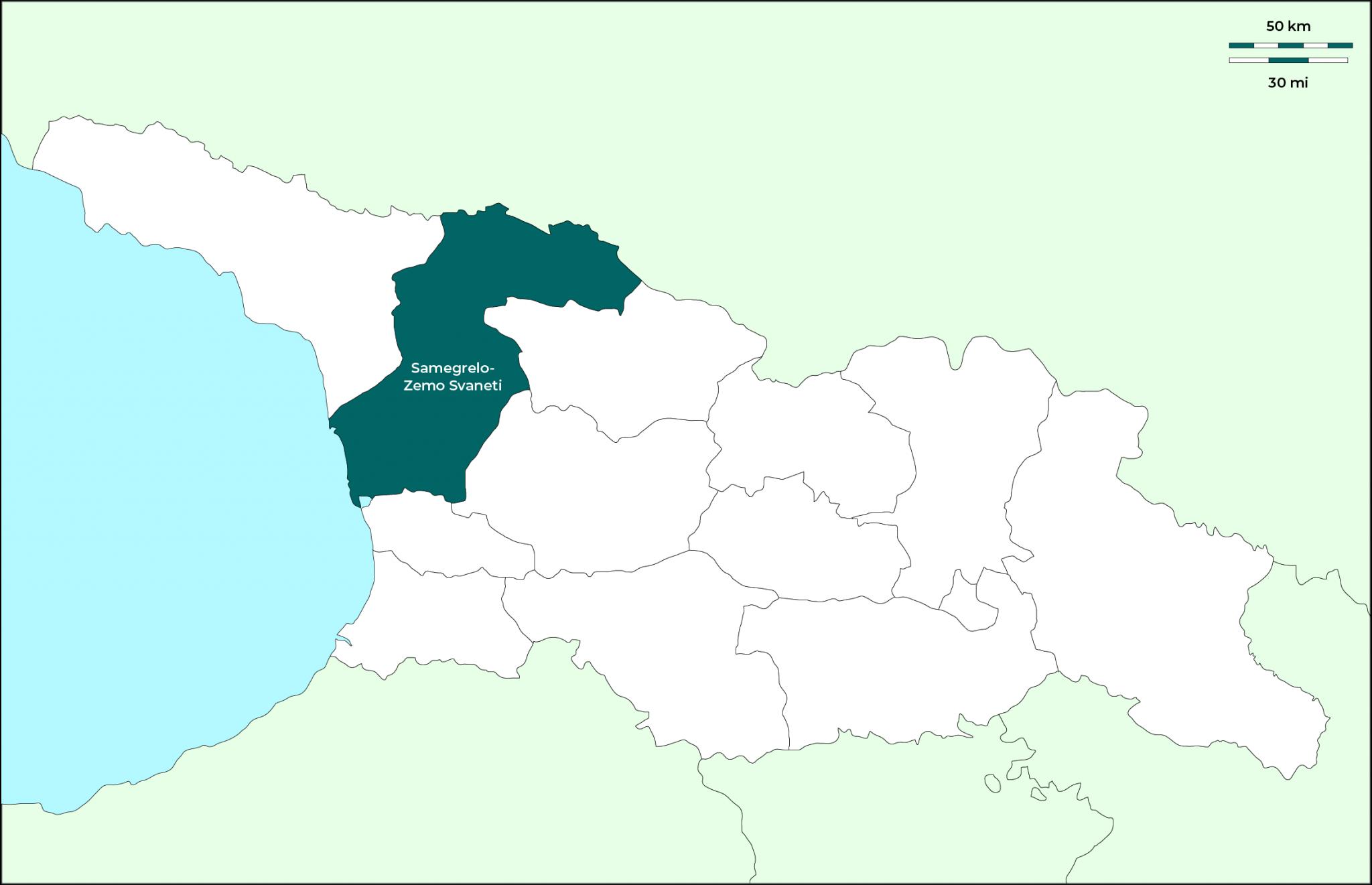 Región de Samegrelo-Zemo Svaneti: Mapa