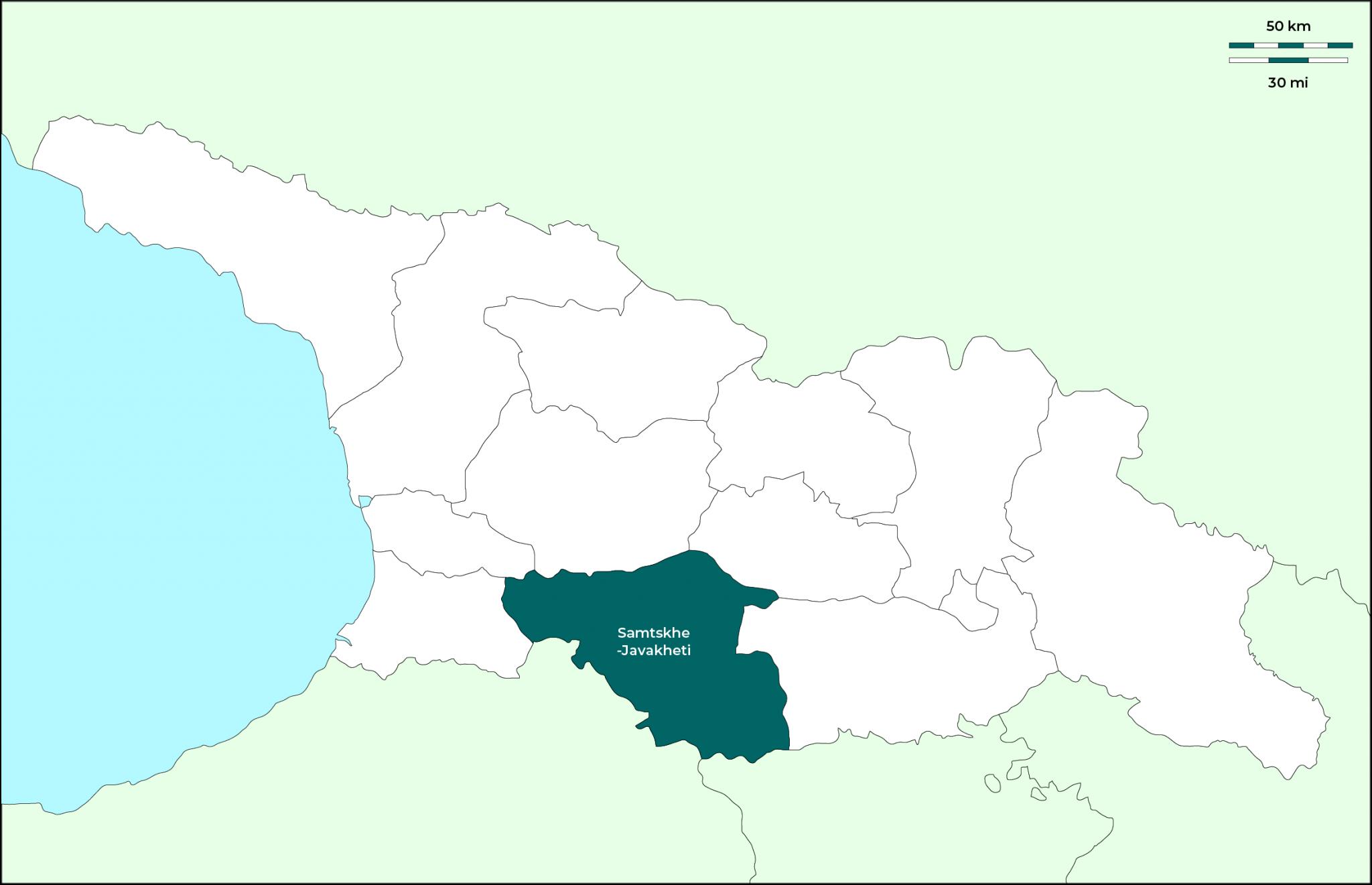 Región de Samtskhe-Javakheti: Mapa