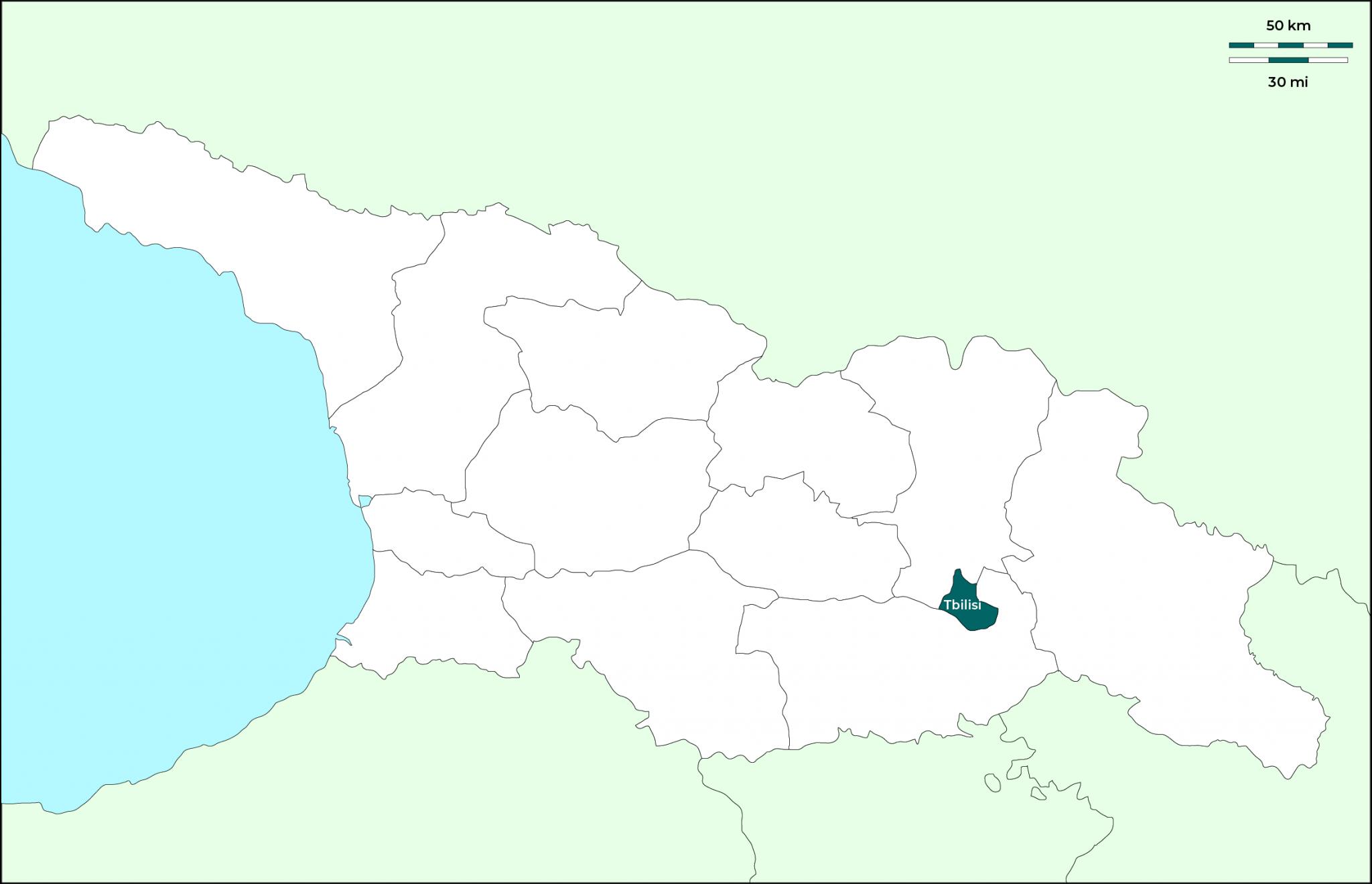 Tbilisi (Tiflis): Mapa
